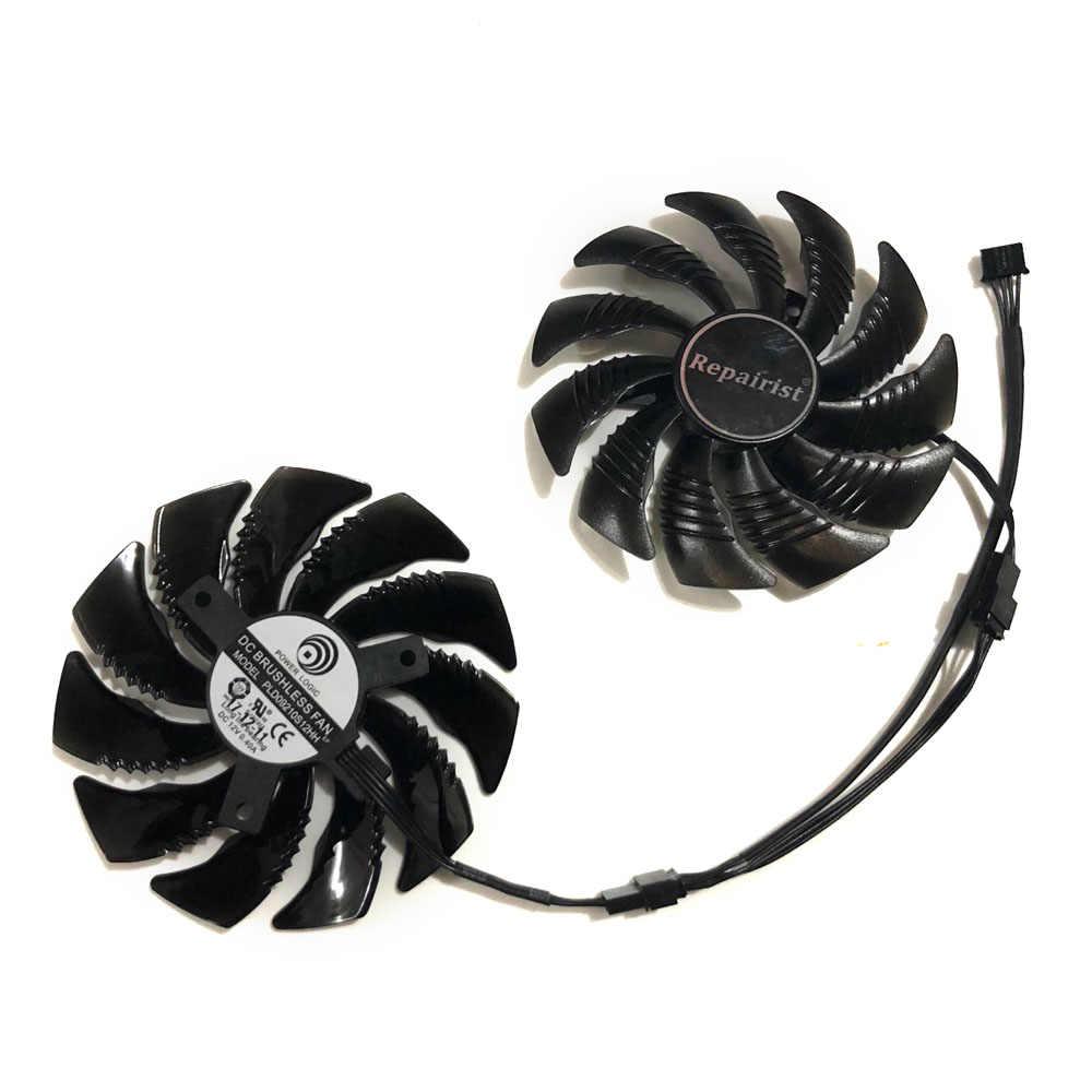 Rx 470/480/570/580 PLD09210S12HH 87 ミリメートル (90 ミリメートル) カードファンギガバイト RX480 RX580 RX570 · ゲーム用グラフィックスカード冷却ファンとして交換
