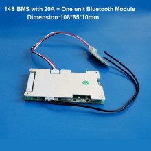 14S 58.8V Li ion battery Smart bluetooth software BMS with 20 to 60A constant current for electric scooter lipo or 18650 Battery