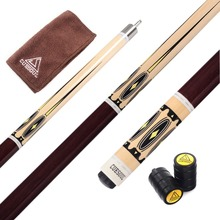 Cuesoul Full Canadian Maple CSPC003 58 inch 1/2 Split Quick Release Stainless Steel Joint Pool Cue Billiard 9 Ball