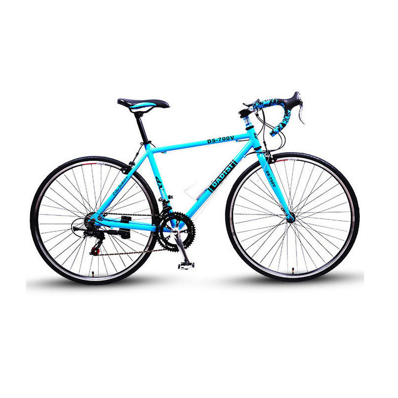 Road Bike Cycling Bicycle 14 Speed Aluminum Alloy 26 Inch Multicolor Options Curved Handle Racing Bicycle