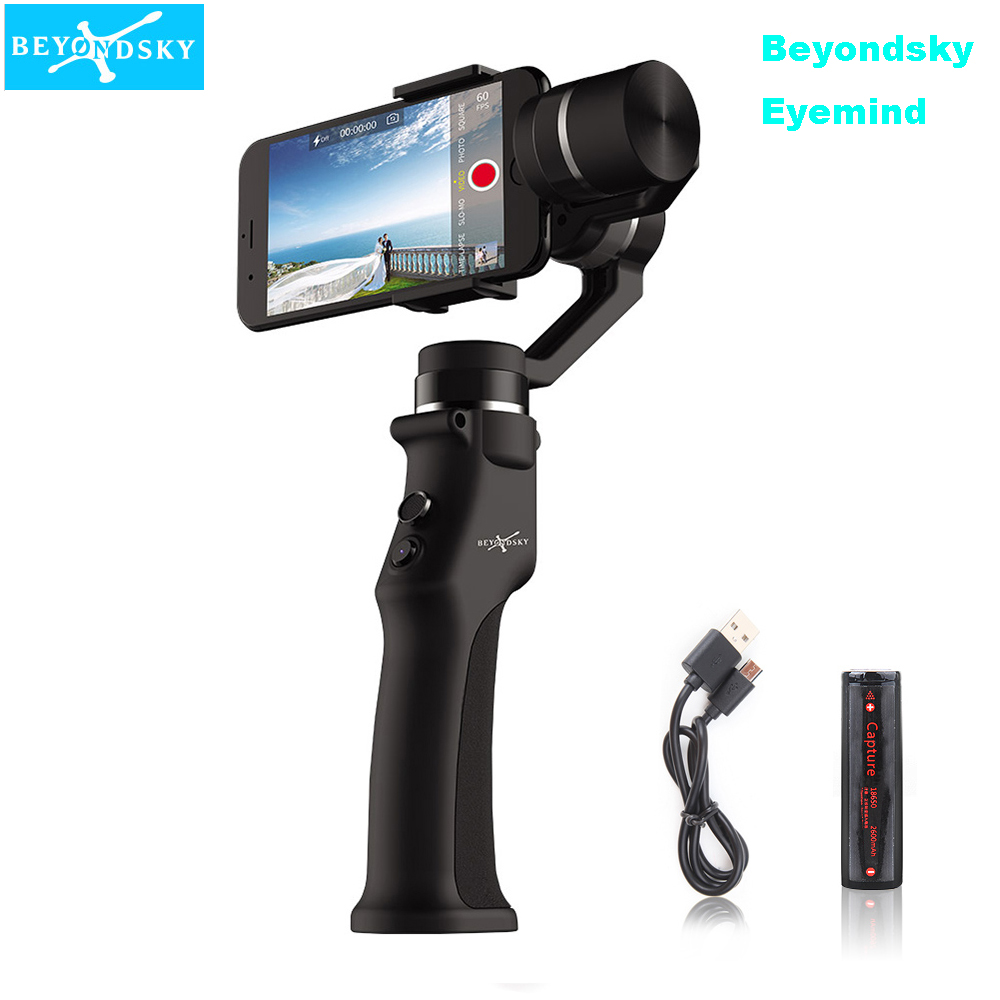 Beyondsky Eyemind 3-Axis Smartphone Handheld Gimbal Stabilizer for iPhone XS X 8 Xiaomi Samsung Action Camera VS Zhiyun Smooth 4 beyondsky eyemind smartphone handheld gimbal 3 axis stabilizer for iphone 8 x xiaomi samsung action camera vs zhiyun smooth q