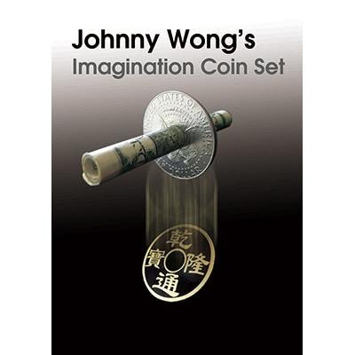 Jeu de pièces d'imagination (DVD + Gimmick) tours de magie pénétrer Magia magicien gros plan Illusions mentalisme peu de Routines de pièces