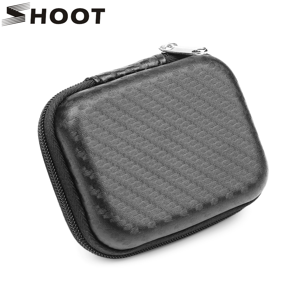 SHOOT Portable Mini Box EVA Bag Case for Xiaomi Yi 4K Lite GoPro Hero 4 4+ Eken H9 H9r Action Camera Case Go Pro Accessories 2017 arrival original eken action camera h9 h9r 4k sport camera with remote hd wifi 1080p 30fps go waterproof pro actoin cam