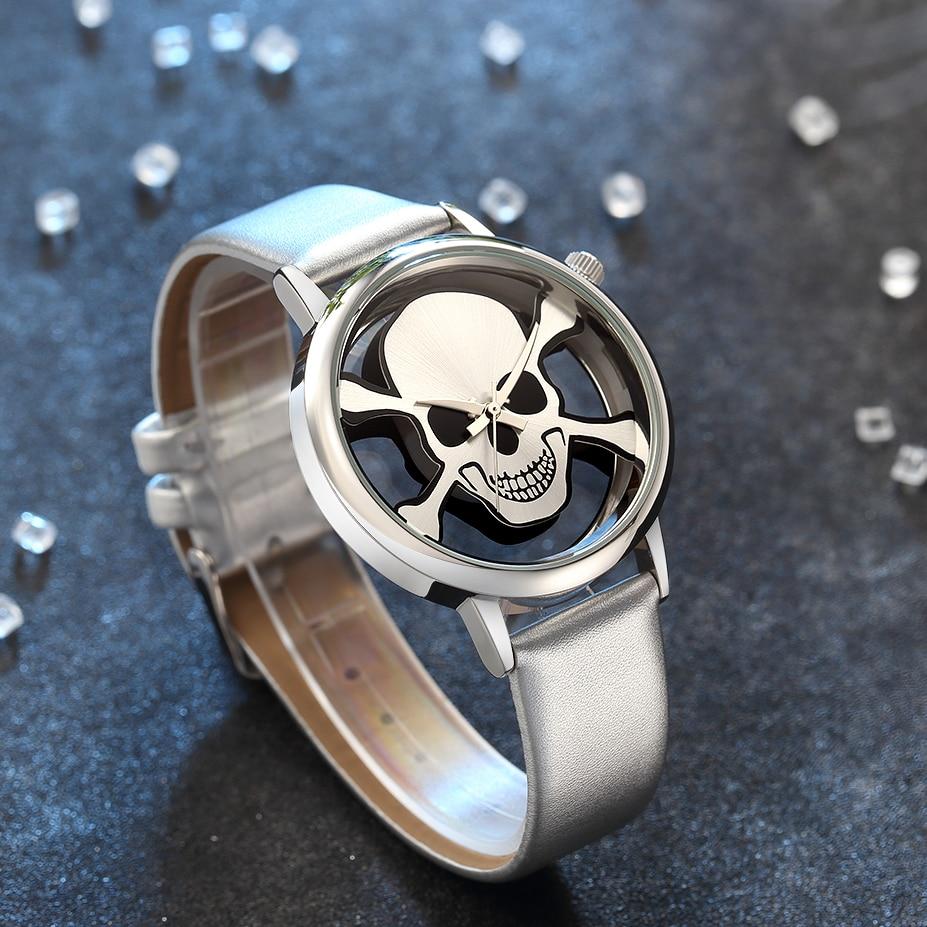 2018 nieuwe skelet schedel mannen horloges vrouwen beroemde unieke - Dameshorloges - Foto 3