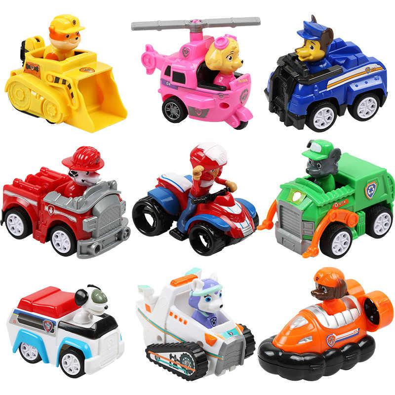 Щенячий патруль, Щенячий патруль, автомобиль, Patrulla, фигурки, Чейз, Marshall Ryder, литой автомобиль, подарок на день рождения, игрушка, набор для детей