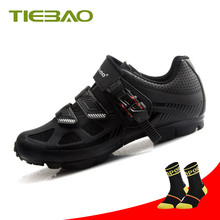 Tiebao cycling shoes Sapatilha Ciclismo MTB men bicycle shoes mountain bike racing pro athletic breathable superstar sneakers