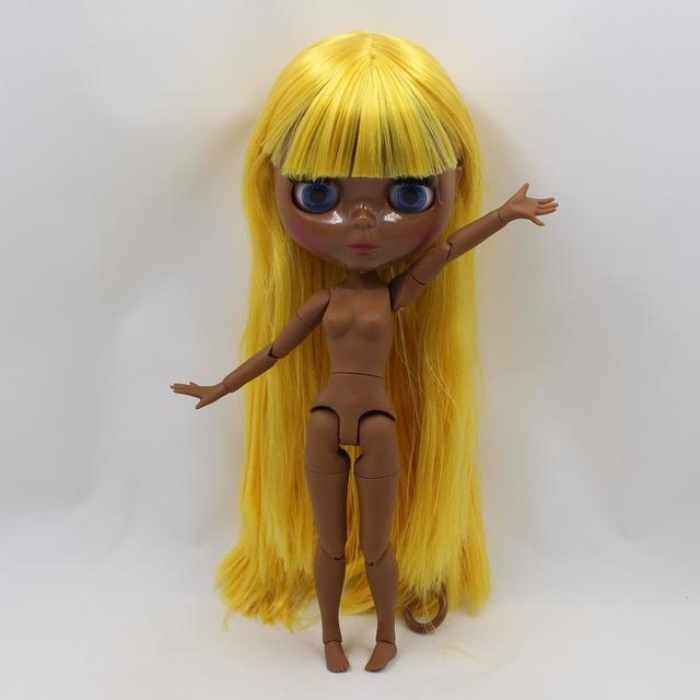 کارخانه Neo Blythe عروسک سیاه پوست زرد مو جور بدن 30cm