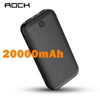 ROCK 20000mAh Power Bank Portable Charger Dual USB External Battery 20000 for iphone Samsung Xiaomi Powerbank