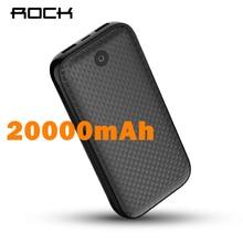 ROCK 20000mAh Power Bank Portable Charger Dual USB External Battery