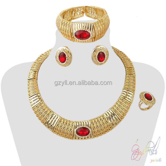 Free shipping 24k gold plated jewellery dubai wholesale indian