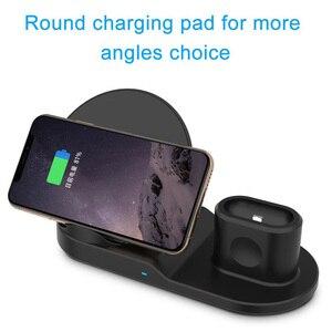 Image 3 - FDGAO Qi Drahtlose Ladegerät Schnelle Lade für iPhone 11 8 X XS XR Apple Uhr 5 4 3 2 Airpods pro 10W 3 in 1 Für Samsung S20 S10