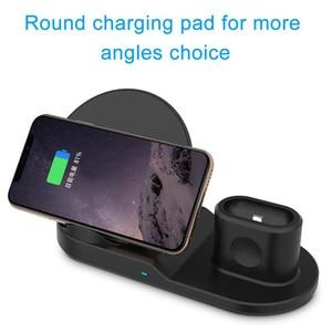 Image 3 - Fdgao Qi Draadloze Oplader Snel Opladen Voor Iphone 11 8 X Xs Xr Apple Horloge 5 4 3 2 Airpods pro 10W 3 In 1 Voor Samsung S20 S10