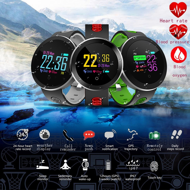 Smart Watch Men Women Fitness Tracker Q8 Pro Smartwatch Waterproof Bracelet Heart Rate Monitor Sport Wristband for Android IOS