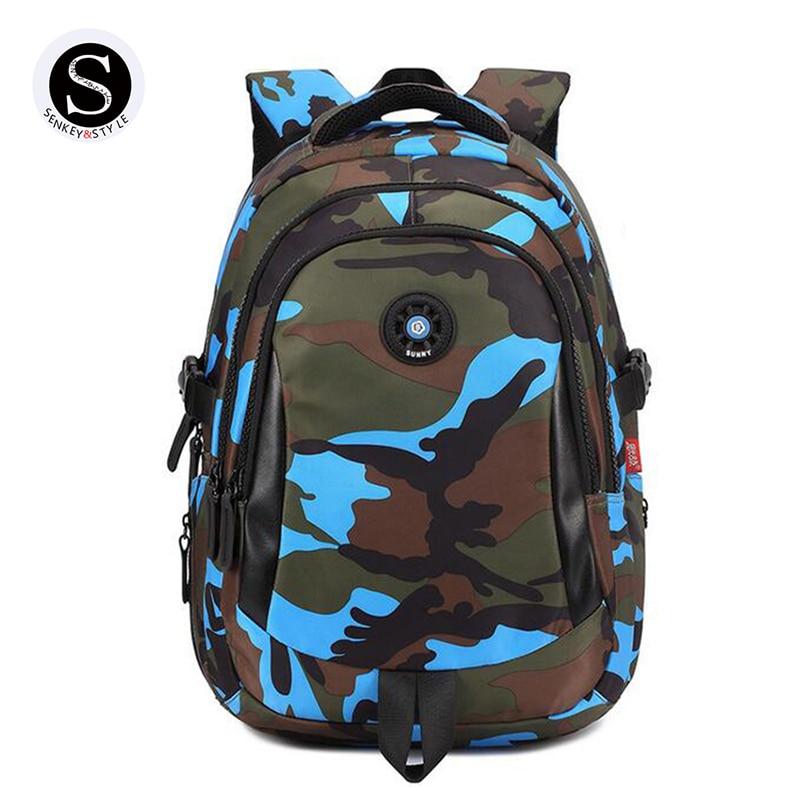 Senkey Style 2017 Designer Women Backpack Camouflage Printing School Bags For Teenagers Student Girls Waterproof Backpack