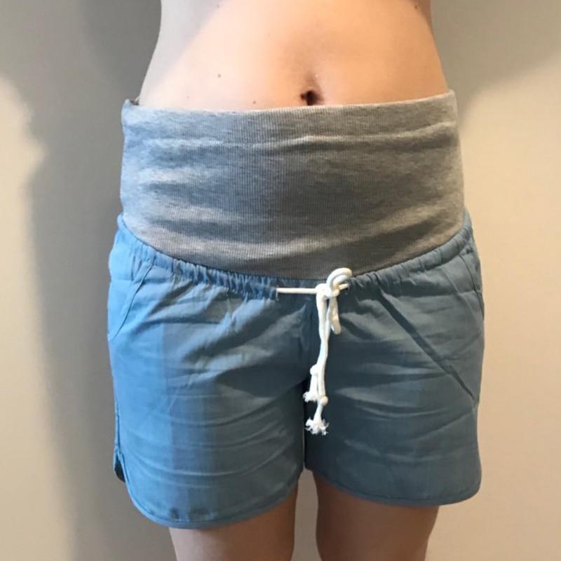 Denim allentato bicchierini dei jeans più il formato incinta breve denim maternità pantaloni vestiti donne incinte capris pantaloni yl492