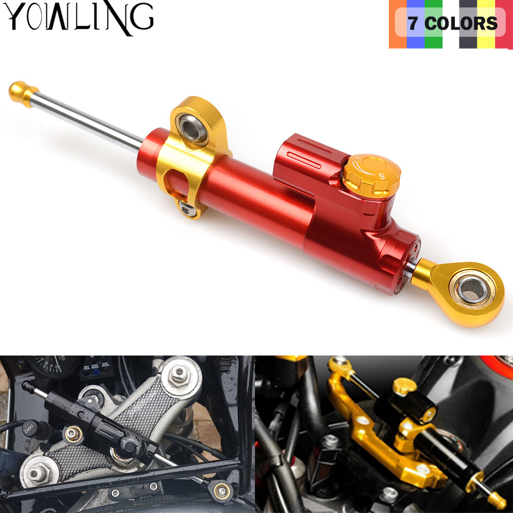 Motorcycle CNC Damper Steering StabilizerLinear Reversed Safety Control For YAMAHA YZF R6 1996-2011 YZF R1 1999-2005 MT-09 MT07 motorcycle cnc damper steering stabilizerlinear reversed safety control for honda cb400 vtec 1999 2010 2000 2001 2002 2003 2004