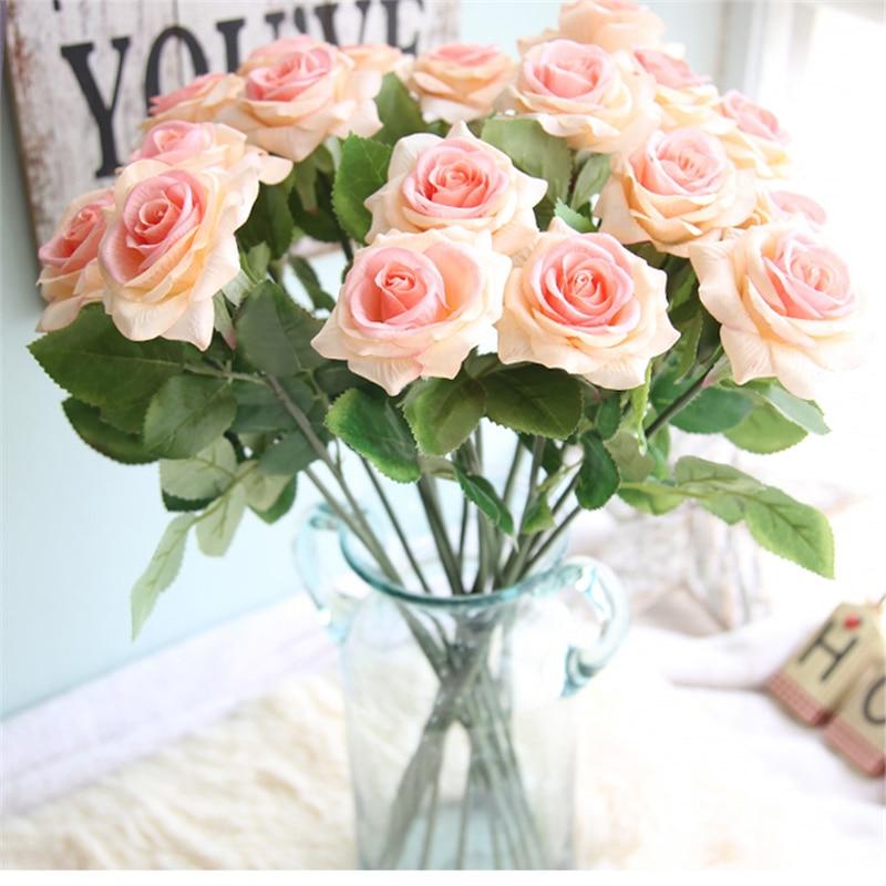 Felt Cloth Rose Single Flower Artificial Flower Bridesmaid Bouquet ...