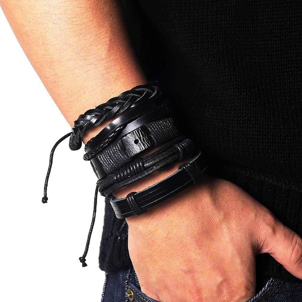 Leather Bangle Set