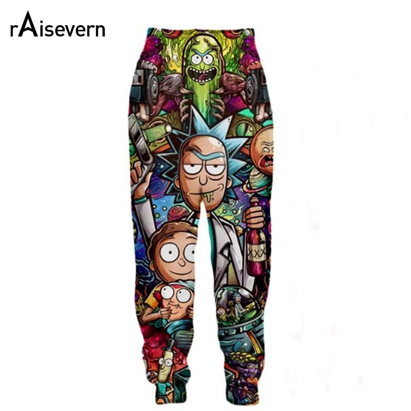 Raisevern New Rick And Morty Print 3D Joggers Pants Harajuku Anime Printed Men Women Unisex Sweatpants Trousers Dropship