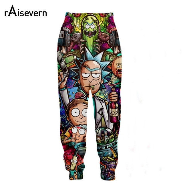 f51d35571755 Raisevern New Rick and Morty Print 3D Joggers Pants Harajuku Anime Printed  Men Women Unisex Sweatpants Trousers Dropship