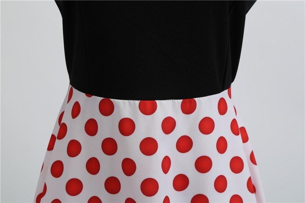HTB1seYEbh rK1RkHFqDq6yJAFXaf Women Summer Dresses 2019 Robe Vintage 1950s 60s Pin Up Big Swing Party Work Wear Rockabilly Dress Black Polka Dot Vestidos