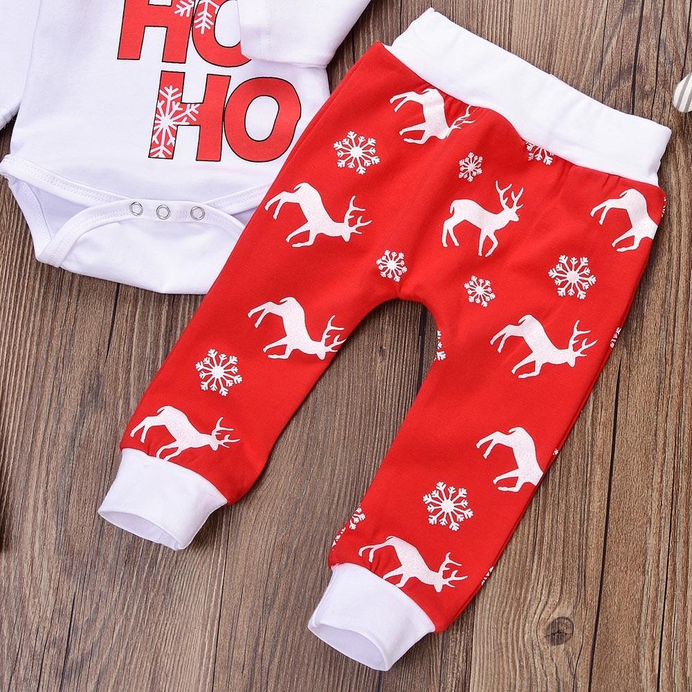 HTB1seYHayoaPuJjSsplq6zg7XXar Baby Winter Clothes Newborn Infant Baby Boy Girl Romper Tops+Pants Christmas Deer snowflake Outfits Set baby christmas clothes