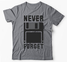 NEVER FORGET FLOPPY DISK SILICON VALLEY FUNNY GREY T-SHIRT New T Shirts Funny Tops Tee Unisex Tshirt Homme