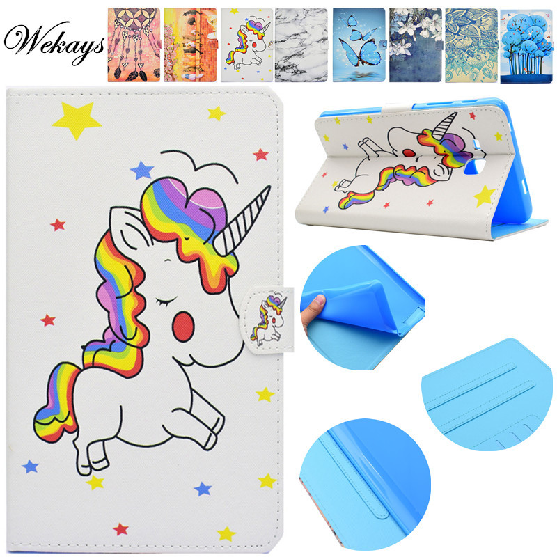 Wekays For Samsung Tab 3 Lite Cartoon Unicorn Leather Stand Case sFor Samsung Galaxy Tab 3 Lite 7.0
