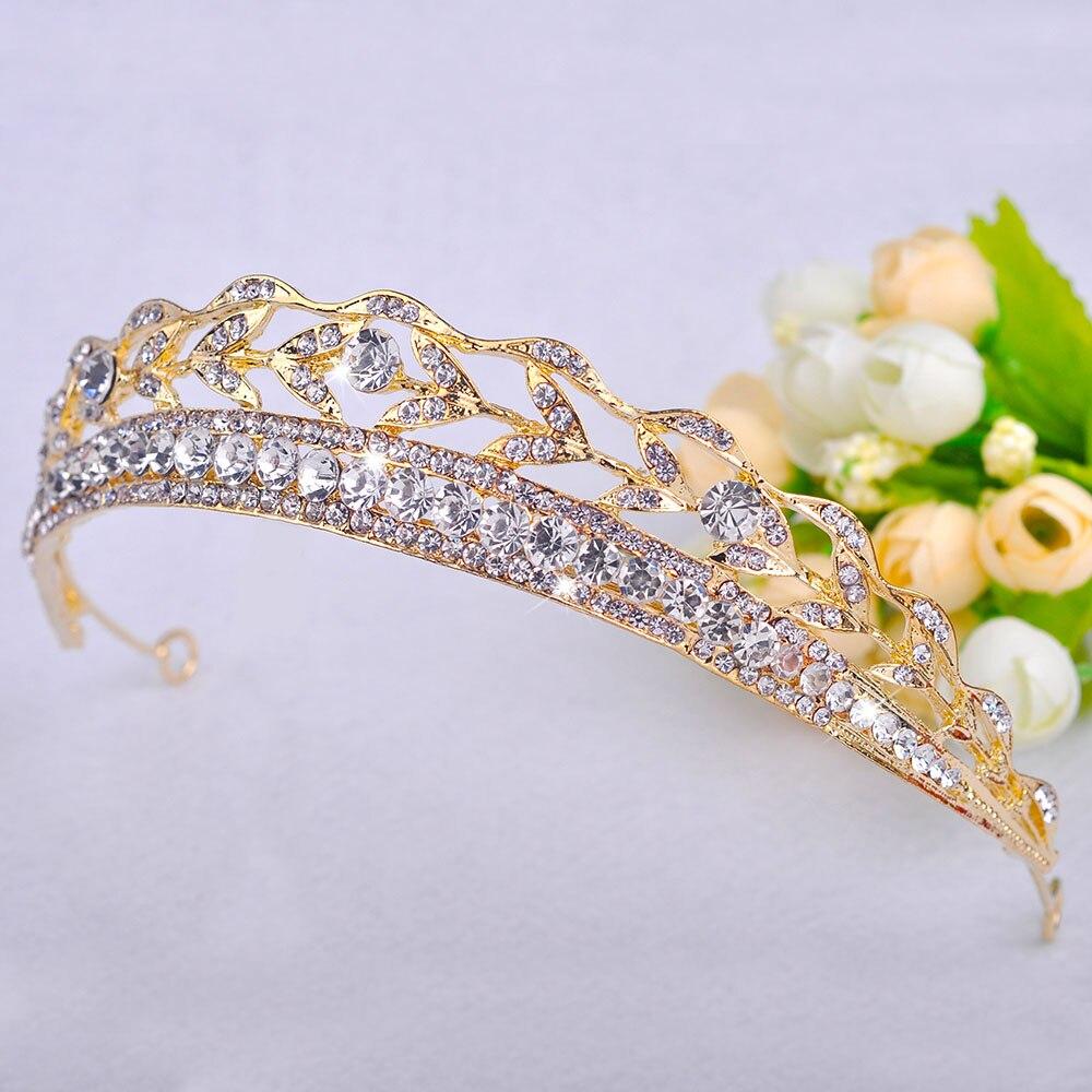 Luxus diadem Kristall Tiara Europa Frauen Crown korona Strass corona HairWear Braut Hairband Hochzeit Zubehör