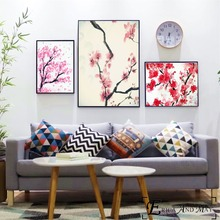 Pink Sakura Cherry blossoms Posters and Prints Wall art Decorative Picture Canvas Painting For Living Room Home Decor Unframed