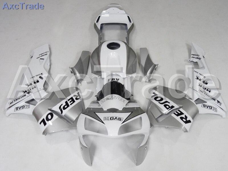 Motorcycle Fairings For Honda CBR600RR CBR600 CBR 600 RR 2003 2004 03 04 F5 ABS Plastic Injection Fairing Kit Bodywork White custom injection factory motorcycle fairings parts for 2005 2006 honda f5 cbr 600 rr cbr600rr 05 06 white repsol fairing bodyits