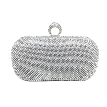 Rhinestones Women Clutch Bags 3 Colors Finger Rings Evening Bags Women Vintage Wedding Bridal Banquet Female Handbag Bolsa Clutches