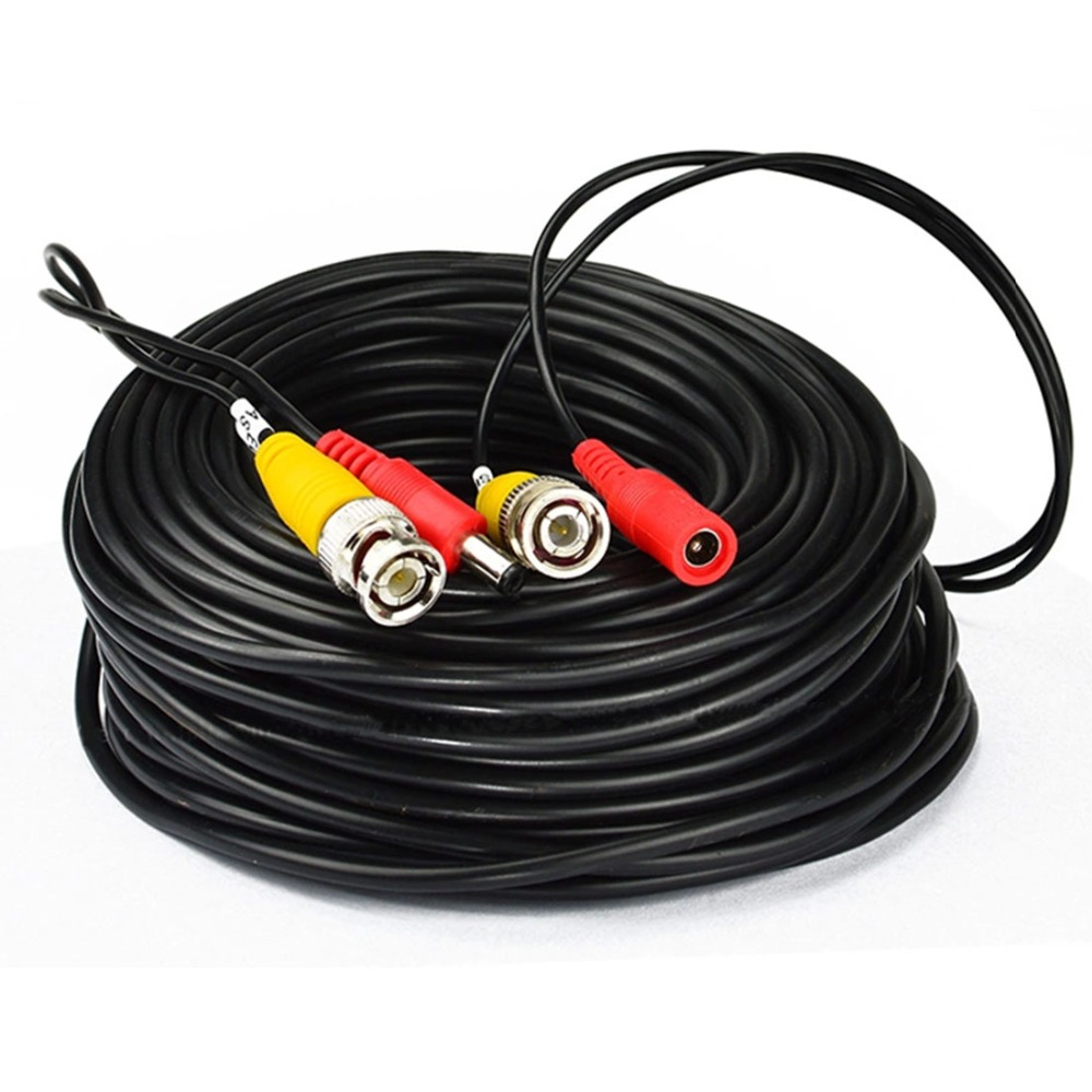 BNC Video Power Cable 32ft 10m 20M 30M 50M for Analog AHD CVI CCTV Surveillance Camera DVR Kit 65ft 10m security video bnc dc extension lead power cable for ahd cvi cctv surveillance camera dvr system dc power cable