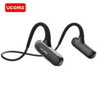 UCOMX Airwings Bluetooth Headphones Open Ear 5.0 Wireless Earphones Built in Mic Sports Bluetooth Headset for Samsung iPhone