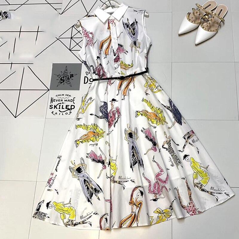 6162db093c87 Modo Primavera Vestito Per Le Donne Stampa Del Lungo Senza 2019 Ufficio  Dalla Maniche Della Di Nuovo Signora WEDH29I