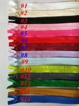 (can choose the colors) Hot Sale 5 pcs 3# Mix Color Invisible Zippers 50cm Water Puller Lace Zipper Sewing Accessories For Bag