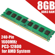 Brand New 8GB DDR3 Memory RAM PC3-12800 1600MHz Desktop PC DIMM 240 Pins Non-EC For AMD System Hight Quality
