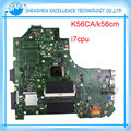 Para asus k56ca k56cm s550ca placa madre del ordenador portátil con cpu i7 pantalla táctil de apoyo