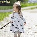 Новый дизайн девочка платье мультфильм мышь Весна зима весна стиль дети принцесса платья детская одежда платье партии