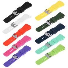 10 видов цветов 22 мм спортивный силиконовый браслет ремешок для Samsung Шестерни S3 Смарт-часы