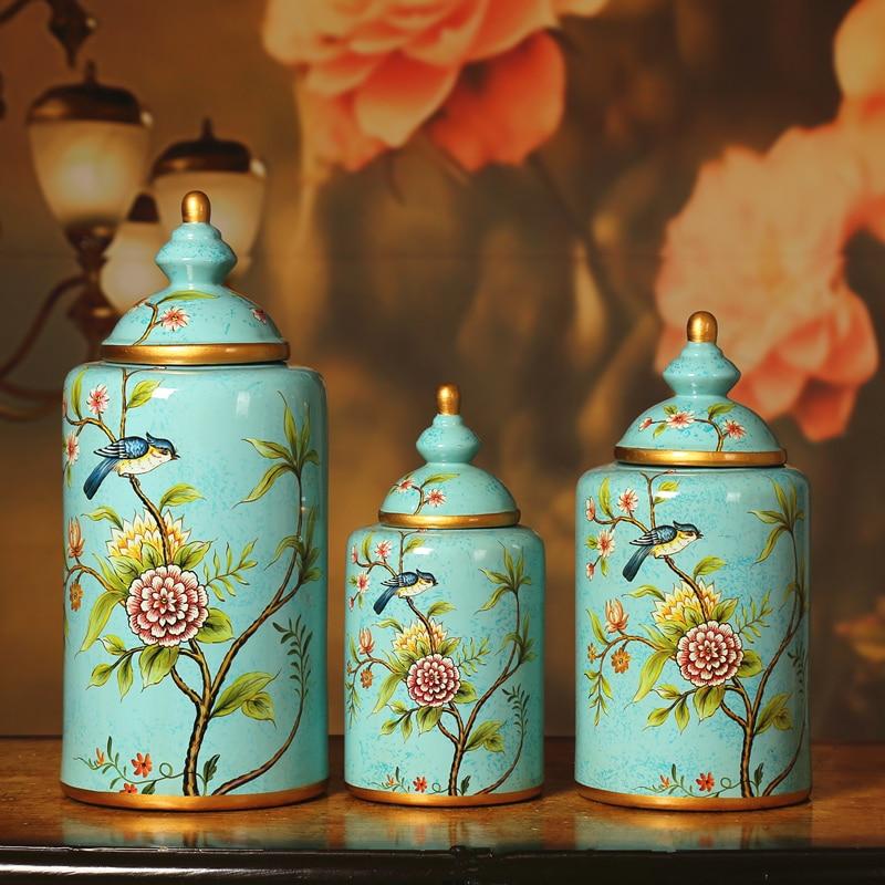 Kraj Ręcznie Malowane Ceramiczne Doniczki Kwiat Ozdoba