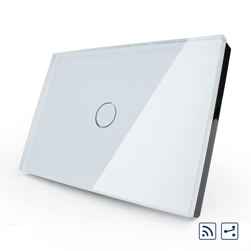 Manufacturer Ivory Crystal Glass Panel Smart Switc US/AU standard, OS-001SR-81, 2-Way Wireless Remote Home Light Switch