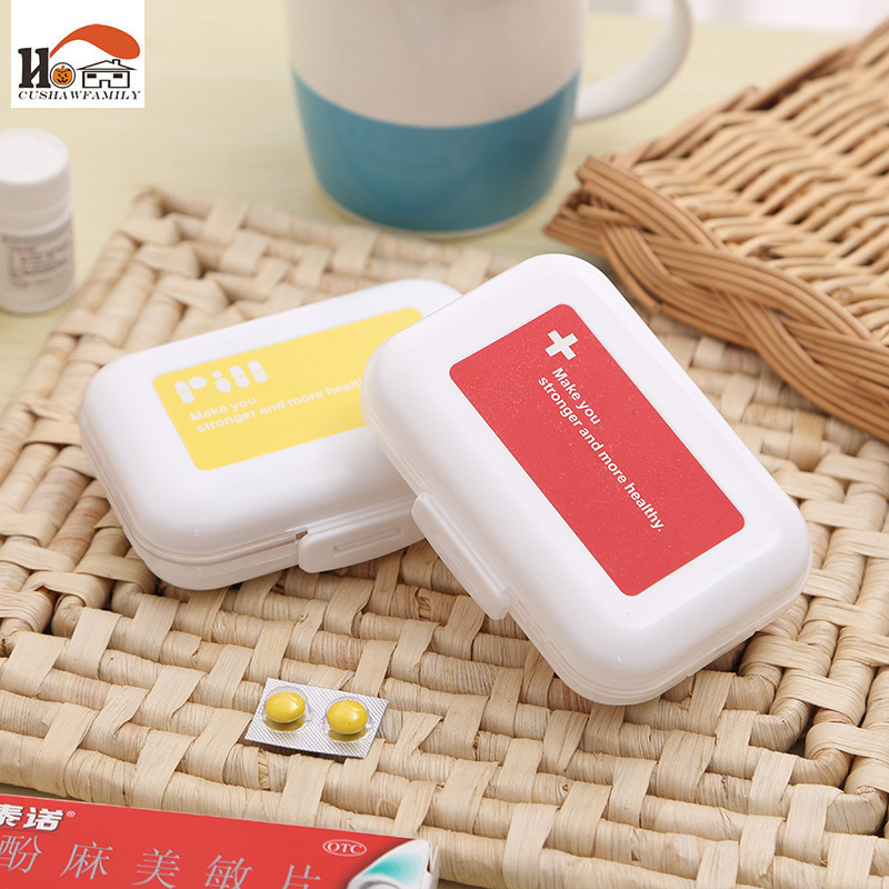 CUSHAWFAMILY Portable 2Layer 8 Slots seal folding Pill Cases Jewelry candy Storage Box Vitamin Medicine Pill Box Case Container