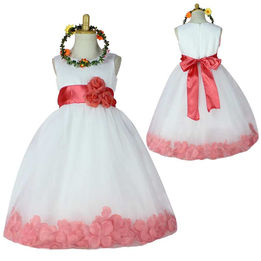 1pcs/lot , Wedding Flower Girl Tutu Dress Baby Dancing Birthday Dress Summer Kids Photo Clothing