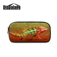 Animal Printed Cosmetic Cases Cool Pencil Bag For Boys Zippered School Pencil Cases Pencil Cases For