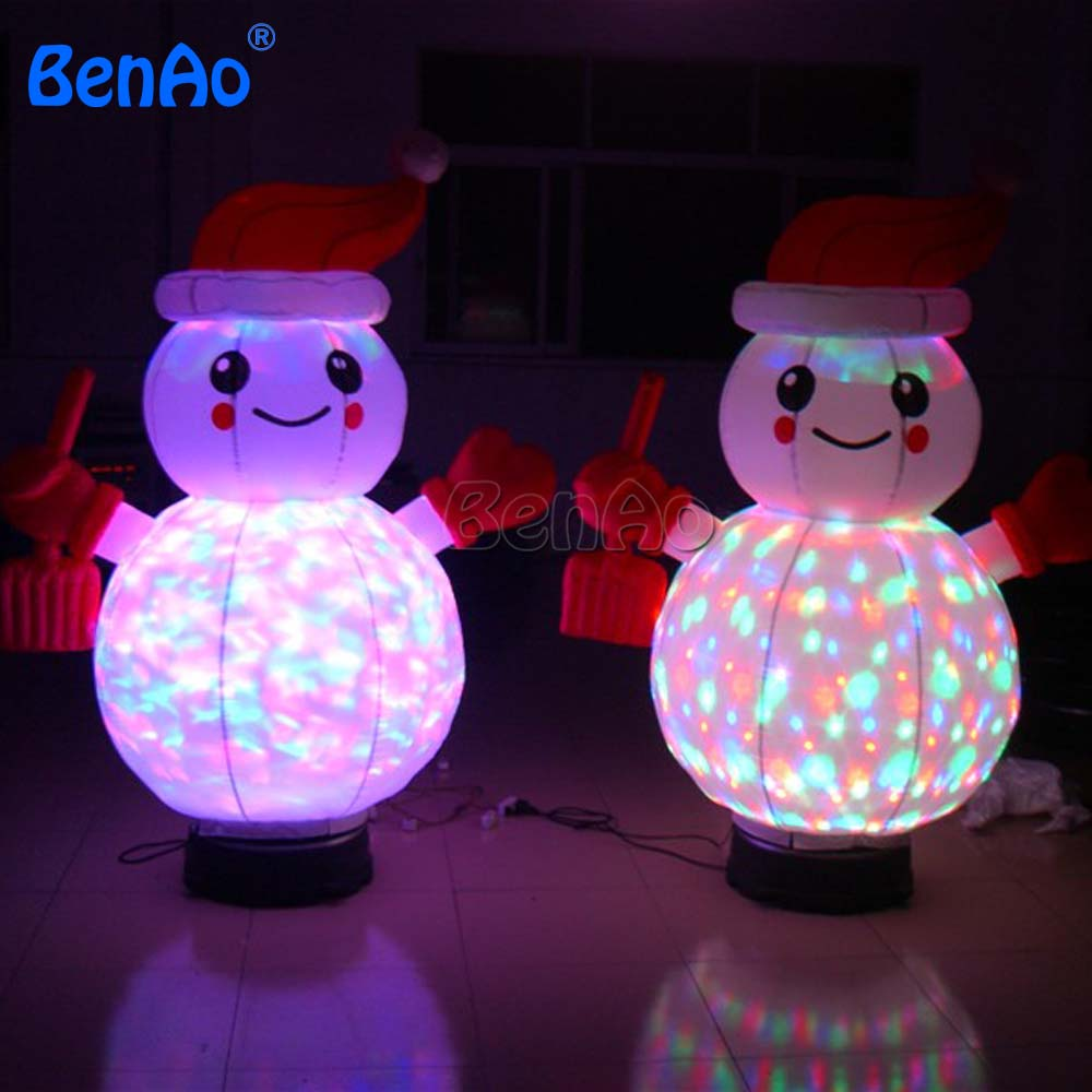 X091 New 1.5mH 5' Inflatable Colorful SnowMan Xmas Shop Decoration woth Vaired Light for christmas decoration