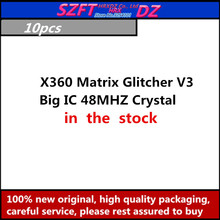SZFTHRXDZ 5PCS X360 Matrix Glitcher V3 Blau PCB Big IC 48MHZ Kristall oszillator