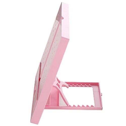 JIELISI 754 square folding type reading computer typewriter document file rack pink