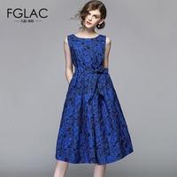 FGLAC Women dress Fashion Casual sleeveless summer dress Elegant Slim Jacquard party dress plus size women clothing vestidos