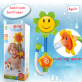2016 Nuevos Niños de los cabritos Del Bebé Girasol de Juguete de Baño Grifo de la Ducha baño de Agua Juego de Aprendizaje Withe Paquete Al Por Menor del bebé de Juguete de Regalo juguetes